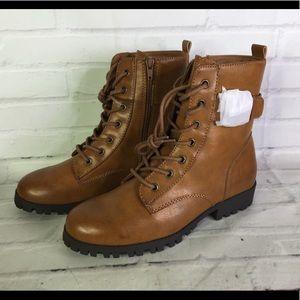 SO Womens Size 8 Broccoli Combat Boots Cognac Tan